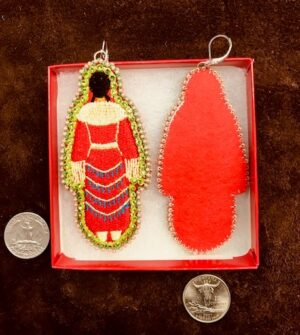 MMIW Jingle Red Dress Embroidered...