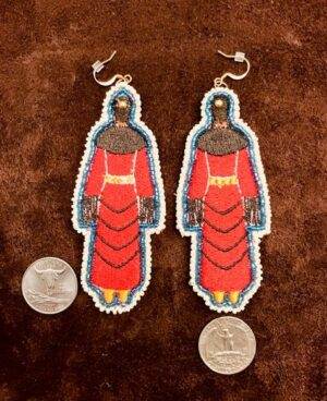 MMIW Traditional Red Dress Earrings