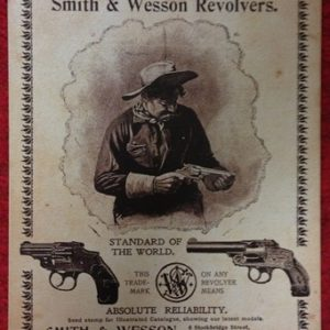 Smith and Wesson Revolvers Tin Sign