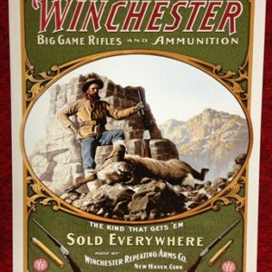 Winchester Big Game Rifles and Ammunition Tin Sign