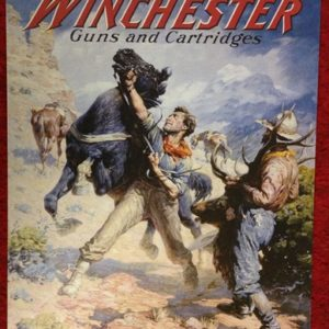 Winchester Guns and Cartridges Tin Sign
